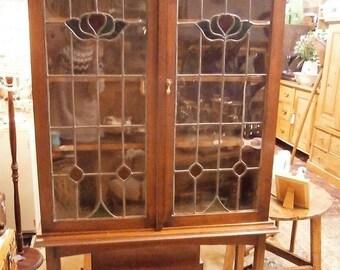 Art Nouveau Mahogany Glazed Bookcase