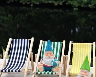 fairy garden lounge chair beach chair miniature chairs deck chairs