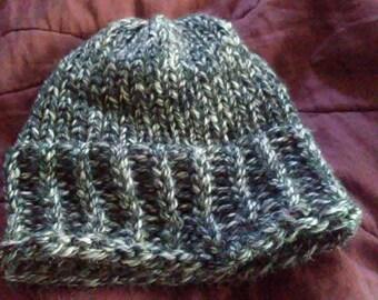 Warm, Fashionable Handmade Knit Hat, teens hat, womens hat, winter hat, knit hat