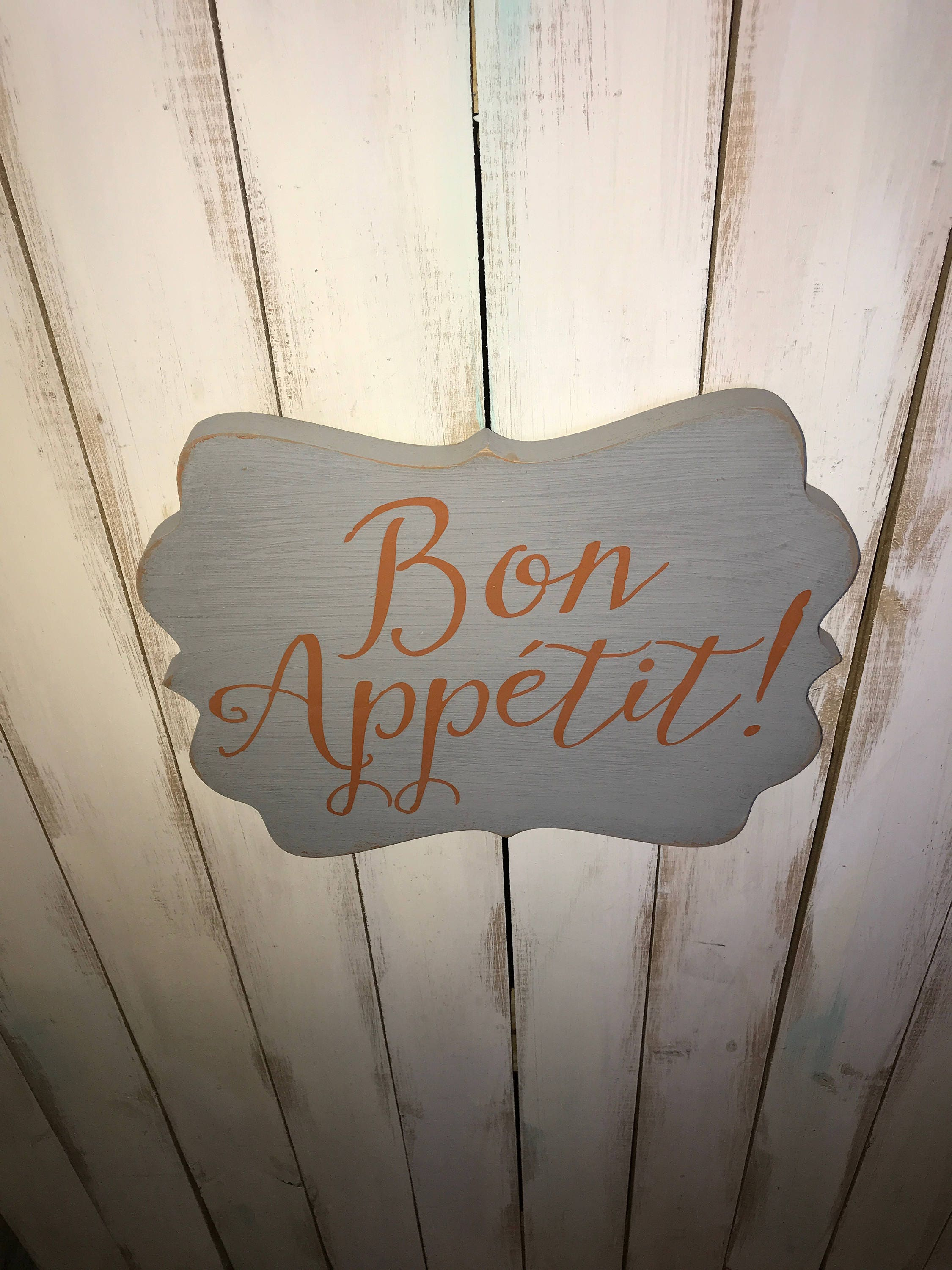Bon Appetit Sign  Kitchen Sign  Kitchen Decor  Bon Appetit  Dining Room  Decor