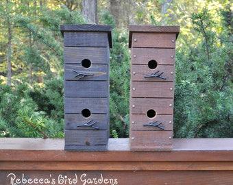 Cage oiseau nichoir bois suspension cage oiseau bois - Suspension cage oiseau ...