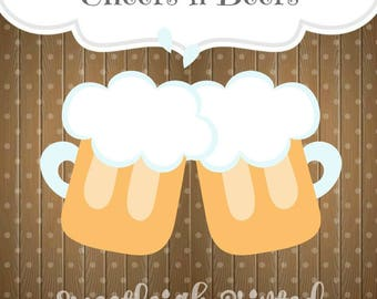 Cheers n Beers Cookie Cutter. Beer Cookie Cutter. Oktoberfest Cookie Cutter. St. Patricks Day Cookie Cutter.