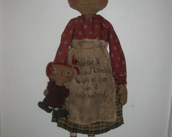 Primitive Raggedy with Her Dolly