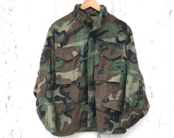 Camo Jacket Size S Military Field Jacket Camouflage Cold Weather