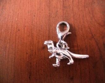 Charm charm's hook silver dinosaur 13 x 22 mm