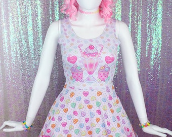 "White ""Lovely Candy Heart"" Dress"