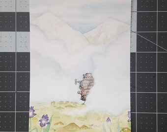 Howl's Moving Castle Watercolor PRINT 5x7
