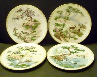 Edward Marshall Boehm Life's Best Wishes Plate Collection - set of 4