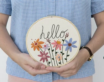 Embroidery hoop sign