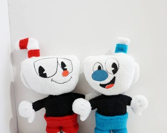 Cuphead Plush - Mugman Plush 11'' Inches Tall (Unofficial) Pocket Size