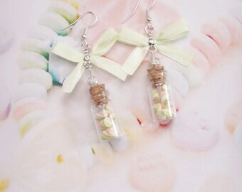 earrings jar marshmallows polymer clay