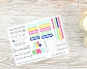 Flower Burst Hobonichi Weekly Planner Stickers; Summer Kit; Weekly Sticker Kit; Hobonichi Techo Cousin Sticker