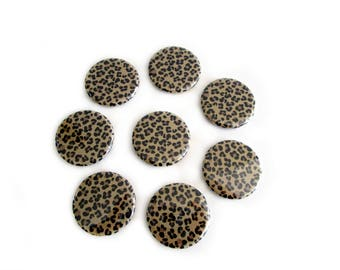 Leopard Print Refrigerator Magnets - Animal Print Magnets - Fridge Magnet Set - Boho Chic, Hollywood Glam Decor - Girlfriend Gifts