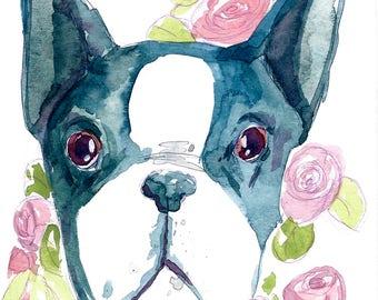 Custom Watercolor Pet Portrait Illustration