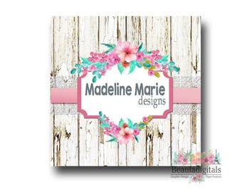 Country Rustic Logo Business Pack - Wooden Floral Logo - Premade Logo Design -  Business Logo Pack - Business Card Logo - Custom Logo