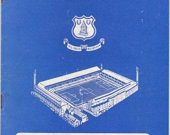 Vintage Football (soccer) Programme - Everton v Fulham, 1967/68 season