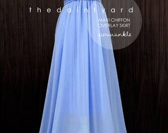 Chiffon Overlay Skirt in Periwinkle for Maxi Long Convertible Dress / Infinity Dress / Wrap Dress / Octopus Dress
