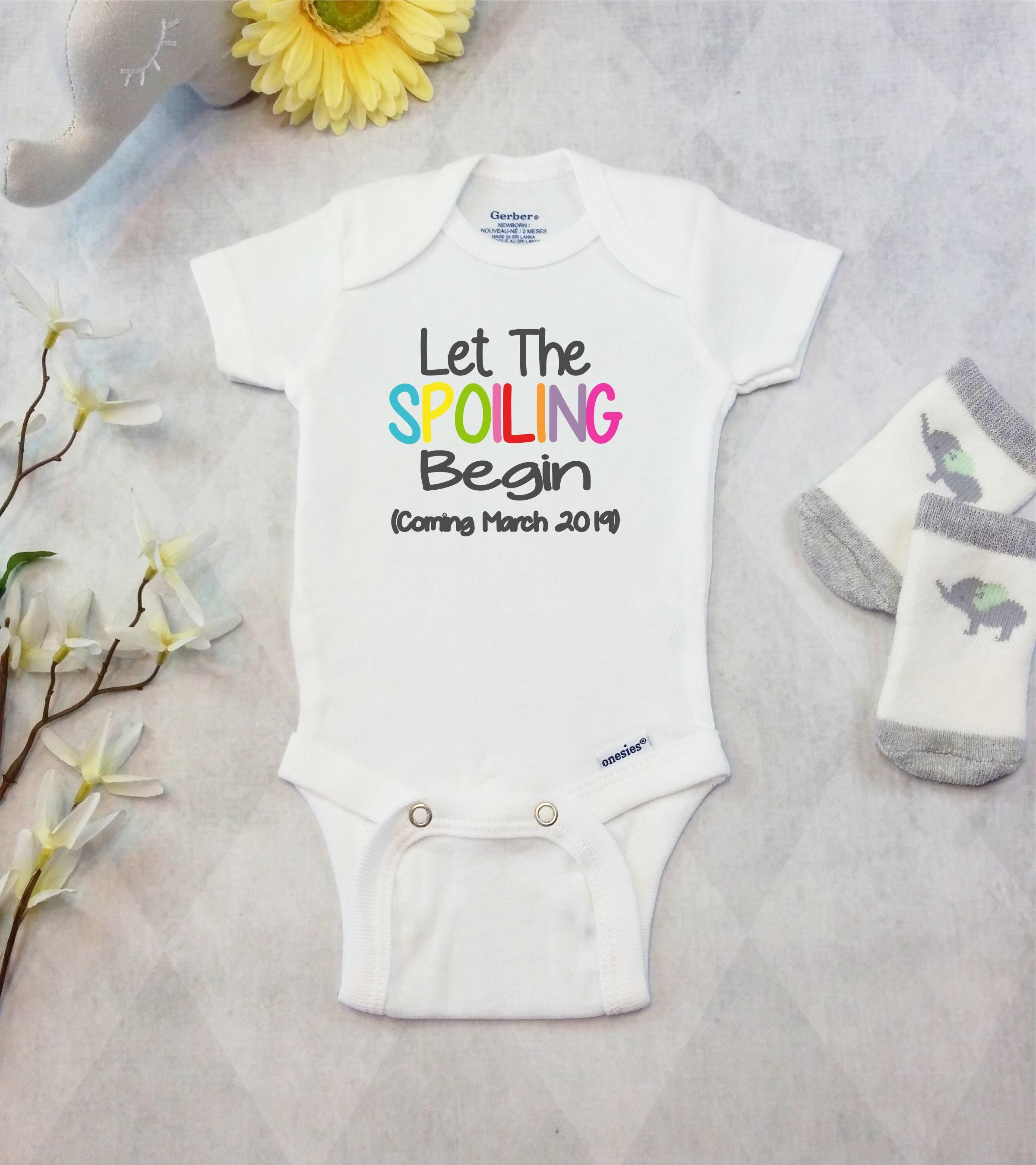 Custom Pregnancy Announcement Onesies Bodysuit Personalized – Grandparents Baby Announcement
