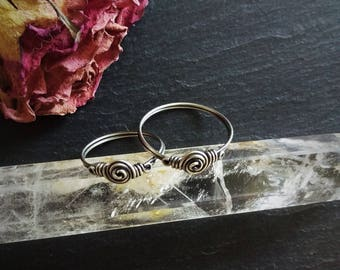 viking ring norse jewelry copper ring silver ring anglo saxon historical - Pagan Wedding Rings