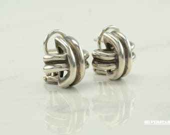 Vintage Tiffany and Co. Sterling Silver Omega Back Earrings Stud