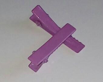 X 1 40x8mm purple metal Alligator Clip