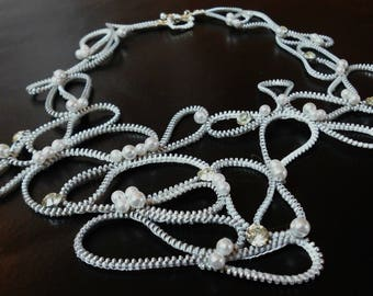 white whirls necklace