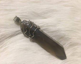 Smoky Citrine Wire Wrapped Pendant