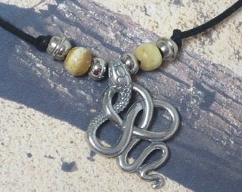 Pewter Snake Pendant  CCS153