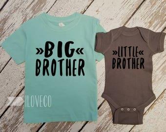 Big Brother Shirt & Little Brother bodysuit / Big Brother Little Brother set