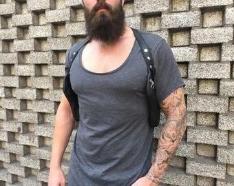 """Zweiseitiger Revolverbag Doppel Halfter Tasche schwarz Pistolentasche doppelt Männertasche """"Luca"""""""