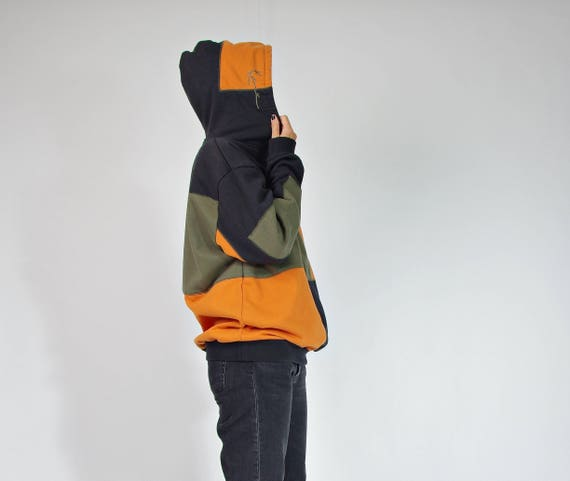 Karl Kani color block old school streetwear hoodie / size L