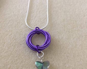 Mobius with Charm Necklace