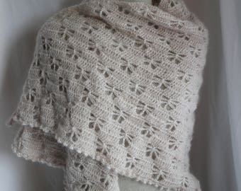 Champagne Lacy Shawl