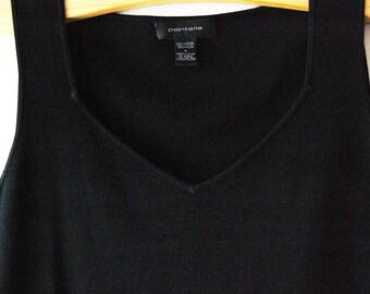 90s Black Knit Crop Top // Size Medium //  Sweetheart Neckline // Vintage Cropped Tank Top