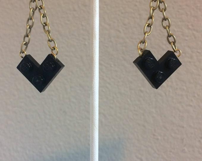 Teardrop Earrings, with LEGO bricks