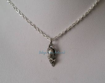 Small 3D Rat Mouse Charm Necklace on Silver Crossed Chain, Black Faux Suede Cord or Brown Braided Cord. Pets, Animals, Cute, Dainty