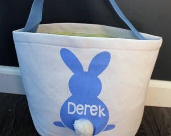 Personalized Easter Bag, Personalized Easter Bucket, Personalized Easter Basket, Personalized Easter Tote