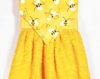 Hanging Hand Towel Bumble Bees Bee Yellow Kitchen