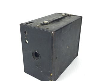 Vintage 1920s Box Camera Kodak No.2a Brownie Small Box Camera 1920s Antique Box Camera Old Small Box Camera