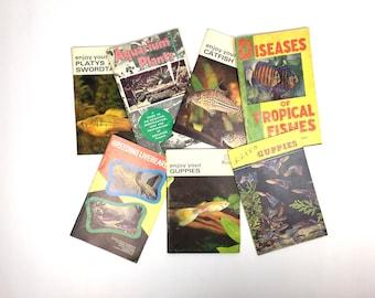 Vintage Tropical Fish Handbook Lot Vintage Aquarium Guide Books Fish Tank Handbook Illustrated Tropical Fish Handbooks