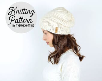 PATTERN // The Pioneer Hat // Chunky Knit Beanie Pattern