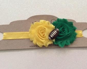 Green Bay Packers inspired headband - Green Bay packers inspired baby- Green Bay packers inspired hair