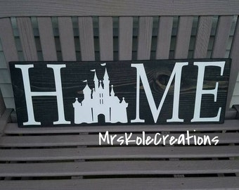 Disney Sign, Disney Home Decor, Disney Home Sign, Handmade Wooden Sign, Painted Disney Sign