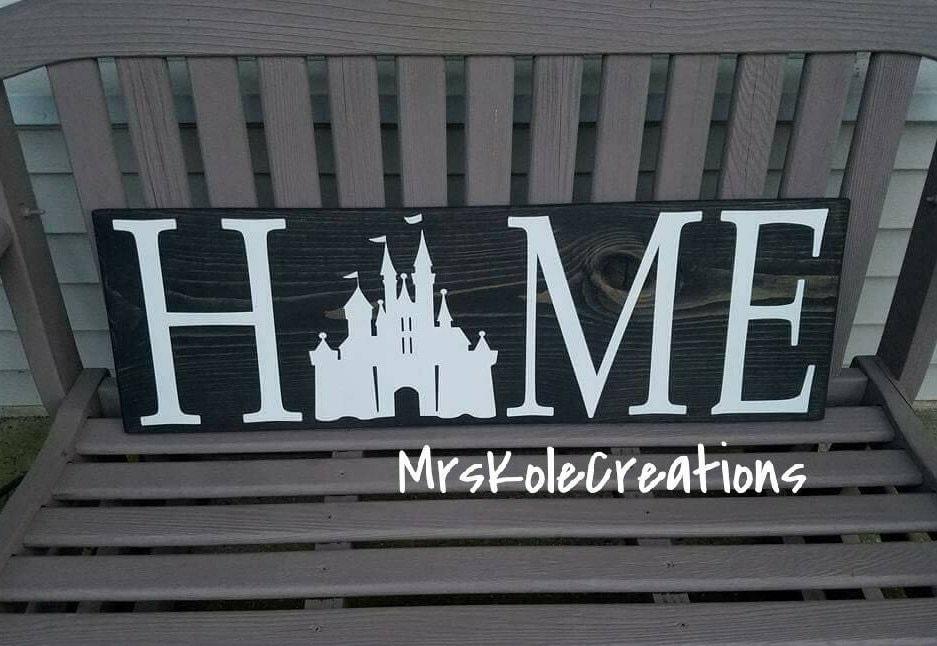 Disney Sign Disney Home Decor Disney Home Sign Handmade Wooden