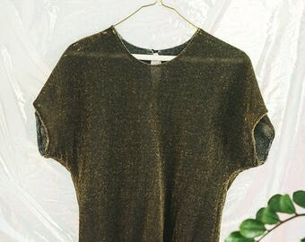 Vintage Sparkly Reversible Womens Top