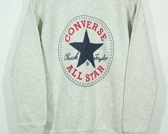 Vintage Converse All Star Sweatshirt Size Small / Converse Sweater / Converse Shoes Sweater / Converse Sweatshirt