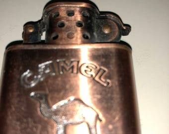 Camel Cigarettes Lighter Copper Color Flip Top Cigar