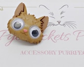 Cat Goggle Eyed Badge Cat Badge Cat Brooch Cat Jewellery Puppy Pin Cat Pin Animal Jewellery Vet Gift Cat Lover Gift
