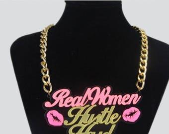 Real Women Hustle Hard Chain