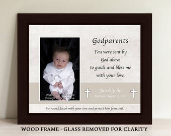 Godparent Gift, Baptism Gift for Godparents, Baptism Gift, Godmother Gift, Godfather Gift, Christening Gift, Godparent Frame (GP2)